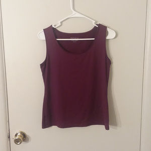 Charter Club Plum Silky Smooth Scooped Neck Tank